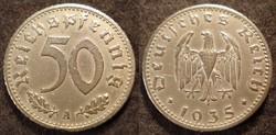 Német III. Birodalom 50 pfennig  1935A