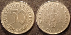 Német III. Birodalom 50 pfennig  1939B