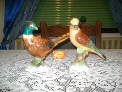 Kerámia madár figura - két darab - nagyok