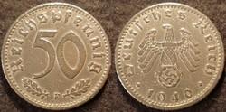 Német III. Birodalom 50 pfennig  1940F