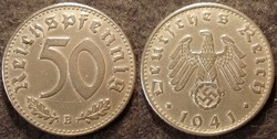 Német III. Birodalom 50 pfennig  1941B