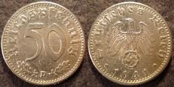 Német III. Birodalom 50 pfennig  1941D