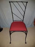Kovácsolt vas szék