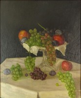 0O709 Baumann Tivadar : Gyümölcs csendélet 1929