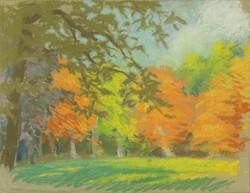0O702 Ismeretlen festő : Liget ősszel
