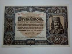 1920-as 50 Korona UNC