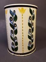 Fischer Emil Budapest Kézzel festett váza