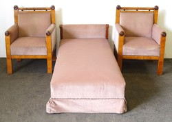 0O931 Antik Biedermeier kanapé és 2 db fotel