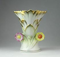 0O944 Herendi Viktória mintás porcelán váza 13 cm