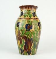 0O962 Régi Badár Balázs mezőtúri kerámia váza 22cm