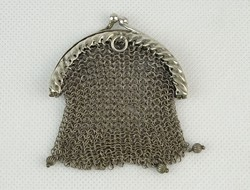 0O999 Antik jelzett ezüst női pénztárca 23 g