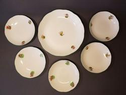 Ritka Herendi tányérok gomba mintával