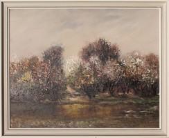 Nagy Imre: Virágzó vízparti fák