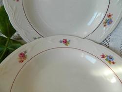 VEB Steingut gyönyörű gránit tányér, mélytányér 2 db