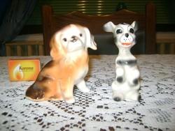 Két darab kerámia kutya figura
