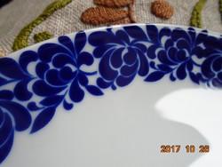 Kobaltkék rózsákkal festett-Echt Cobalt Scharffeuer-tál-24 cm