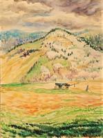 Farkasházy Miklós (1895-1964) Tájkép c. festménye EREDETI GARANCIÁVAL !!