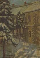 0O718 T. Mokossiny Kató : Téli udvar 1948