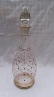 Üveg kiöntő 32 cm magas