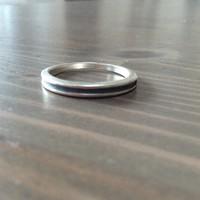 Ezüst gyűrű világoskék díszítéssel