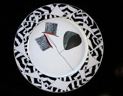 Art deco képzőművészeti dísztál