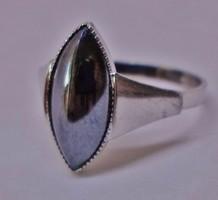 Elegáns,ritka antik hematitköves ezüstgyűrű