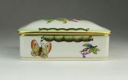 0P285 Viktória mintás Herendi porcelán bonbonier