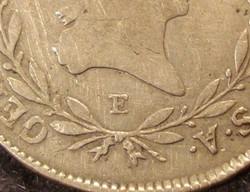 II. Ferenc  20 kreutzer   1793 E  RITKA !    Ag ezüst