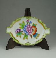 0P309 Viktória mintás Herendi porcelán hamutál