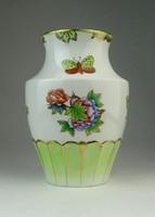 0P335 Viktória mintás Herendi porcelán váza 15.5cm