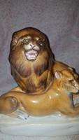 Herendi oroszlánok gyönyörű ritka festéssel