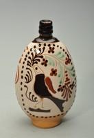 Feliratos madaras mezőcsáti festésű butella.