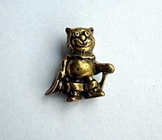 Miniatűr réz cica