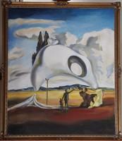 Salvador Dalí: Atavisztiks romok eső után. Reprodukció.