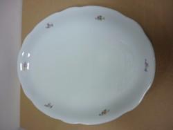Zsolnay ovális pecsenyés tányér
