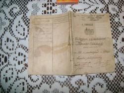 Szolgálati cselédkönyv - 1912