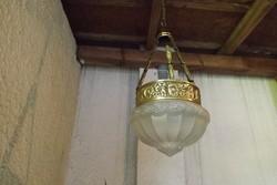 """Különleges antik réz függeszték , függő lámpa """"békaláncos"""""""