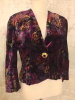80-as évek selyembársony kabátka, csodás aranyozott ékszergombbal