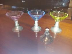 Ezüst likőrös pohárkák
