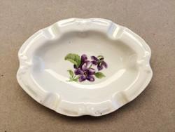 Drasche ibolyás porcelán régi hamuzó hamutál hamutartó