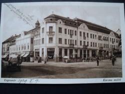 Régi képeslap /Kaposvár Korona szálló/