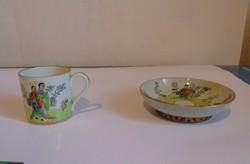 Herendi csing csang csung pohár és egy tányérka