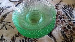 Zöld üveg sutemenyes tányérok 15 cm atm