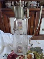 Régi csiszolt üveg  kiöntő!!