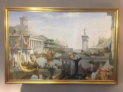 Thomas Cole - The Consummation of Empire; 135 x 91 cm-es olajfestmény