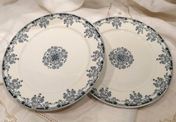 Antik, fajansz Sarreguemines Mignon lapos tányér