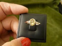 Gyémántos antik gyűrű