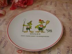 Limitált kiadású Hollóházi kacsás tányér Kajak-Kenu VB. 1998.