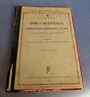 Wagner József: Római régiségek, A római irodalomtörténet vázlata, 1937. könyv