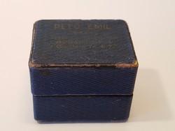 Pető Emil gyűrű tartó dobozka